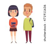 high school   college students. ... | Shutterstock .eps vector #471911636