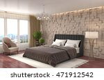 bedroom interior. 3d... | Shutterstock . vector #471912542