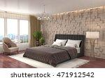 bedroom interior. 3d... | Shutterstock . vector #471912542