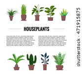 flat style house plants and... | Shutterstock .eps vector #471915875
