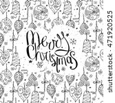 greeting card with phrase merry ... | Shutterstock .eps vector #471920525