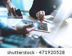 medical technology network team ... | Shutterstock . vector #471920528