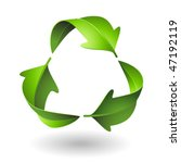 green recycle leaves | Shutterstock .eps vector #47192119