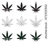 set of medical marijuana... | Shutterstock .eps vector #471925502
