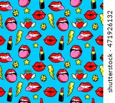 seamless pattern with fashion... | Shutterstock .eps vector #471926132