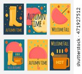 autumn stuff  banners in flat... | Shutterstock .eps vector #471927512
