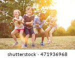 kids playing tug of war at the... | Shutterstock . vector #471936968