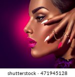 fashion beauty girl. gorgeous... | Shutterstock . vector #471945128