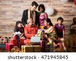 3 generations of indian family... | Shutterstock . vector #471945845
