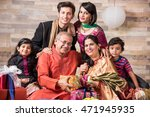 3 generations of indian family... | Shutterstock . vector #471945935