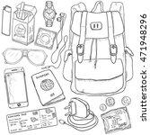 vector sketch travel set....   Shutterstock .eps vector #471948296