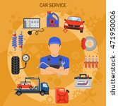car service and assistance... | Shutterstock .eps vector #471950006