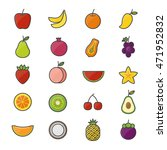 fruit healthy food set of...   Shutterstock .eps vector #471952832