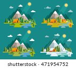seasons landscape set. solitude ... | Shutterstock .eps vector #471954752