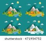 seasons landscape set. solitude ... | Shutterstock .eps vector #471954752
