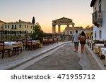 remains of the gate of athena... | Shutterstock . vector #471955712