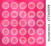 line circle save the date icons.... | Shutterstock .eps vector #471960098
