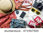 clothing for women  placed on a ... | Shutterstock . vector #471967505