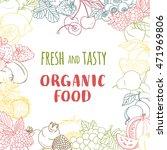 illustration fresh organic... | Shutterstock . vector #471969806