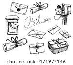 a set of letters  parcels  mail ...