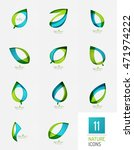 green and blue color spring... | Shutterstock .eps vector #471974222