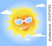poster summer background.... | Shutterstock .eps vector #471974792