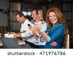 nice people using smart phones | Shutterstock . vector #471976786
