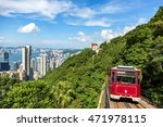tourist peak tram in hong kong | Shutterstock . vector #471978115