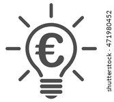 euro idea bulb icon. glyph...   Shutterstock . vector #471980452