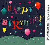vector greeting card happy... | Shutterstock .eps vector #471981112
