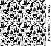 vector illustration black and... | Shutterstock .eps vector #471982168