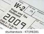 macro shot of a w 2 tax... | Shutterstock . vector #47198281