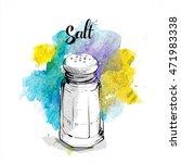 hand draw of salt shaker.... | Shutterstock .eps vector #471983338
