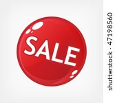 red sale button | Shutterstock .eps vector #47198560