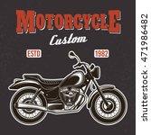 motorcycle on dark background...   Shutterstock .eps vector #471986482