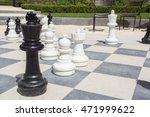 street chessboard with chessmen ...   Shutterstock . vector #471999622