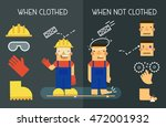 workplace safety  prevention in ...   Shutterstock .eps vector #472001932