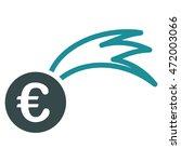 euro falling meteor icon. glyph ...   Shutterstock . vector #472003066