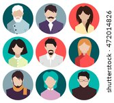 people. icons. set. vector... | Shutterstock .eps vector #472014826