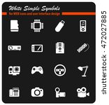 devices simply symbols for web... | Shutterstock .eps vector #472027885