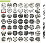 retro badges and labels... | Shutterstock .eps vector #472028776