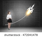 woman witnessing skyrocket... | Shutterstock . vector #472041478