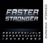 fast strong futuristic alphabet ... | Shutterstock .eps vector #472041622