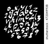 alphabet letters.white...   Shutterstock .eps vector #472049938
