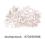 autumn doodle hand drawn page... | Shutterstock .eps vector #472050508