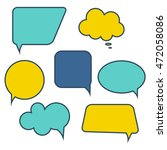set of speech bubbles. vector... | Shutterstock .eps vector #472058086