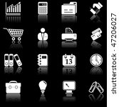 business icons with reflection  ... | Shutterstock .eps vector #47206027