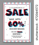 clearance sale poster  sale... | Shutterstock .eps vector #472064572