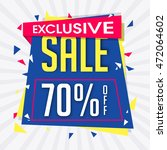 exclusive sale with 70  off ... | Shutterstock .eps vector #472064602