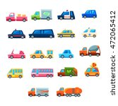 cute toy car set of icons | Shutterstock .eps vector #472065412